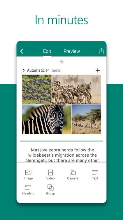 Microsoft Sway screenshot-3
