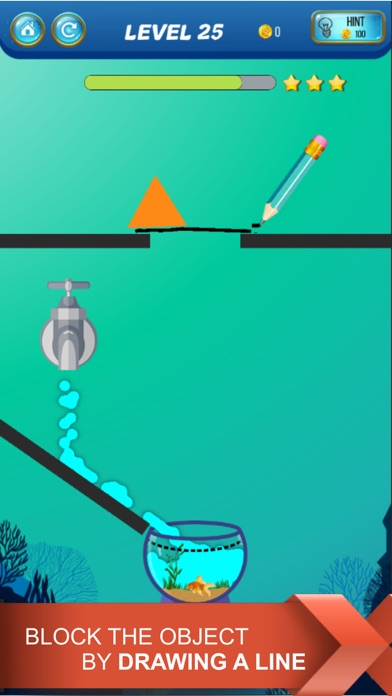 Screenshot for Save The Fish - Physics Puzzle in Peru App Store