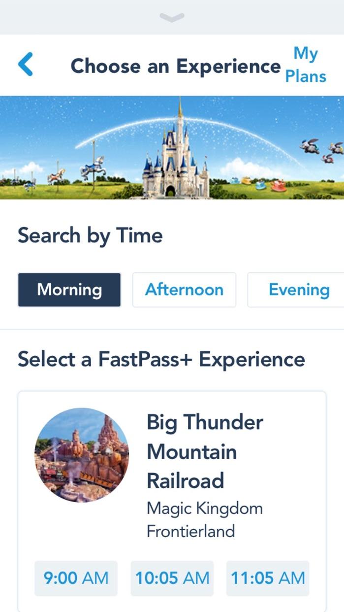 My Disney Experience Screenshot