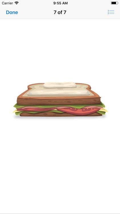 Scrumptious Sandwich Stickers screenshot-7