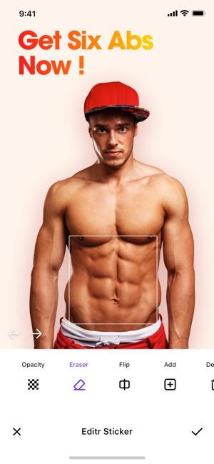 Photable - Body Muscle Editor Screenshot