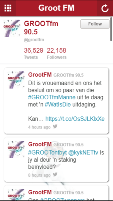 Groot FM screenshot two