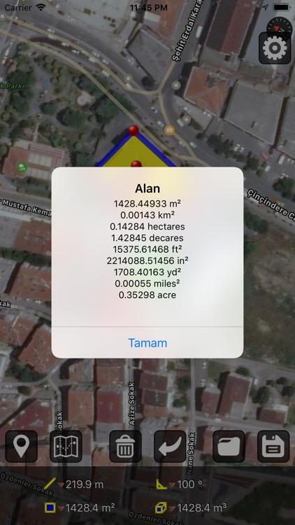 GPS Alan Ölçümü screenshot-6