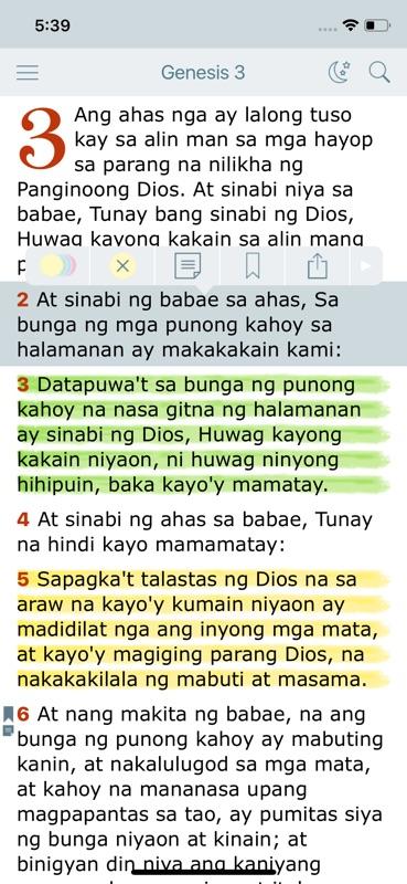 Tagalog ang dating biblia online
