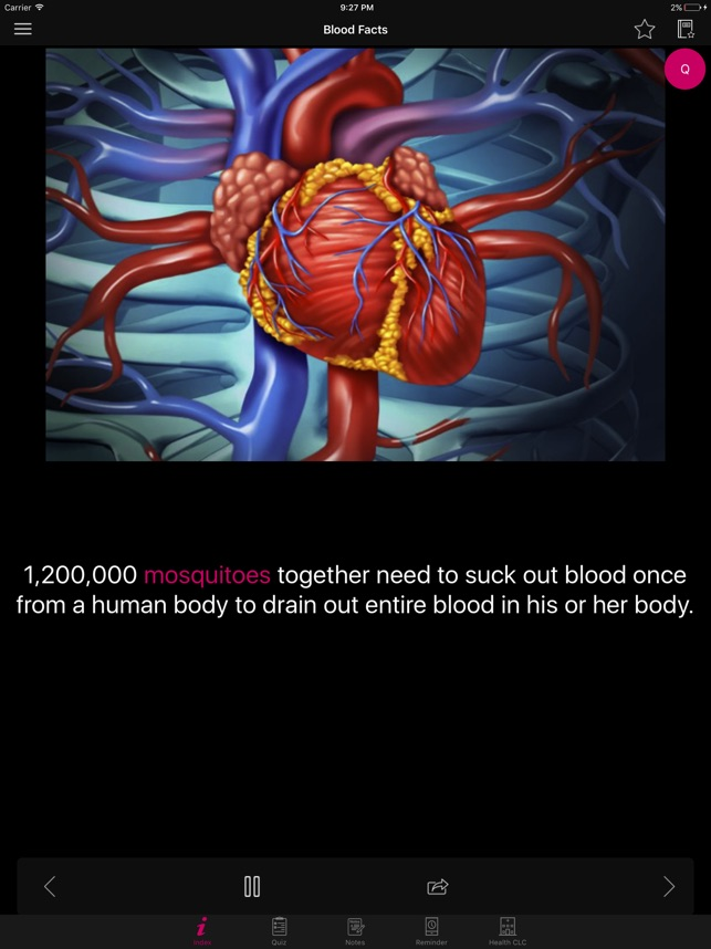 Human Anatomy Blood Facts 2000 on the App Store