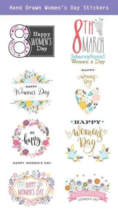 Happy Women's Day Stickers Set screenshot 3