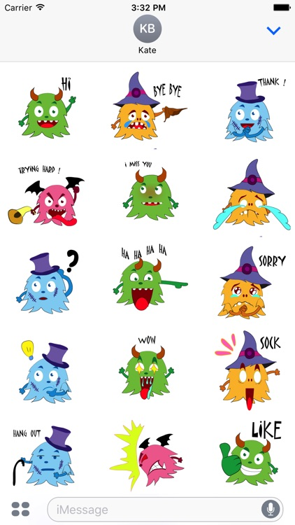 Color monster halloween