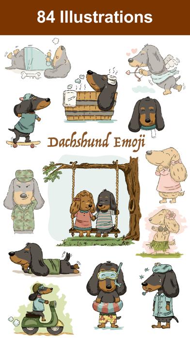 点击获取Dachshund Emoji Doxie Stickers