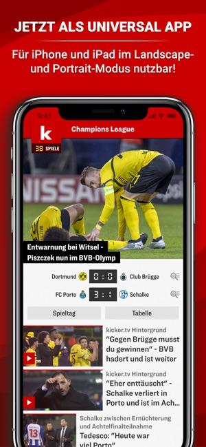 Kicker Fussball News En App Store