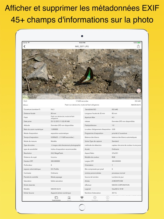 Screenshot #5 pour EXIF Viewer by Fluntro