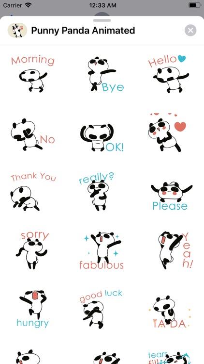 Panda Punny Animated Bear