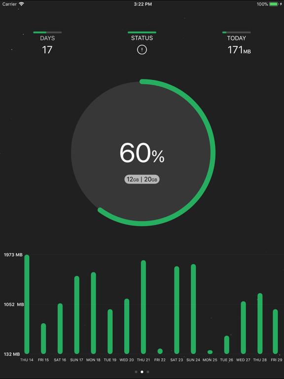 DataRocket Data Usage Monitorのおすすめ画像2