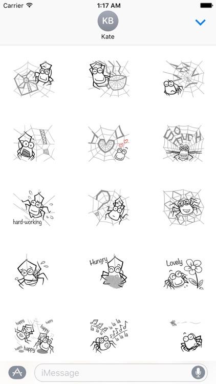 Adorable Spider Emoji Sticker