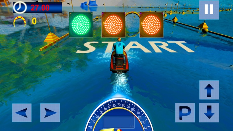 Water Surfing Speed Boat Racer