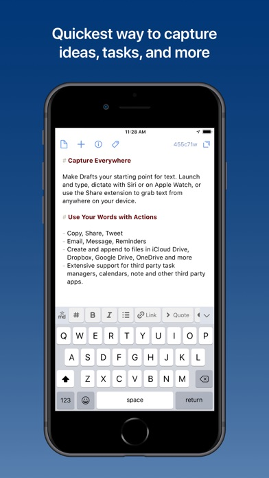 Image of Drafts 5: Capture ‣‣ Act for iPhone