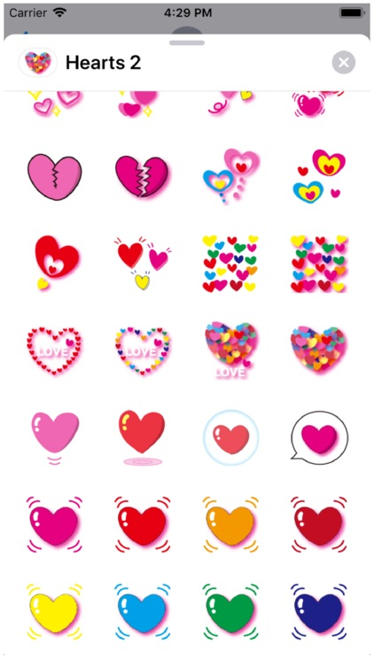 Hearts 2 Stickers