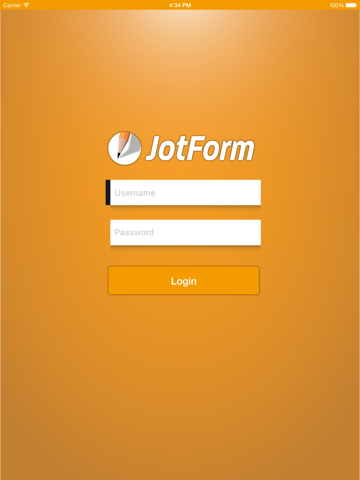 Screenshot of JotForm