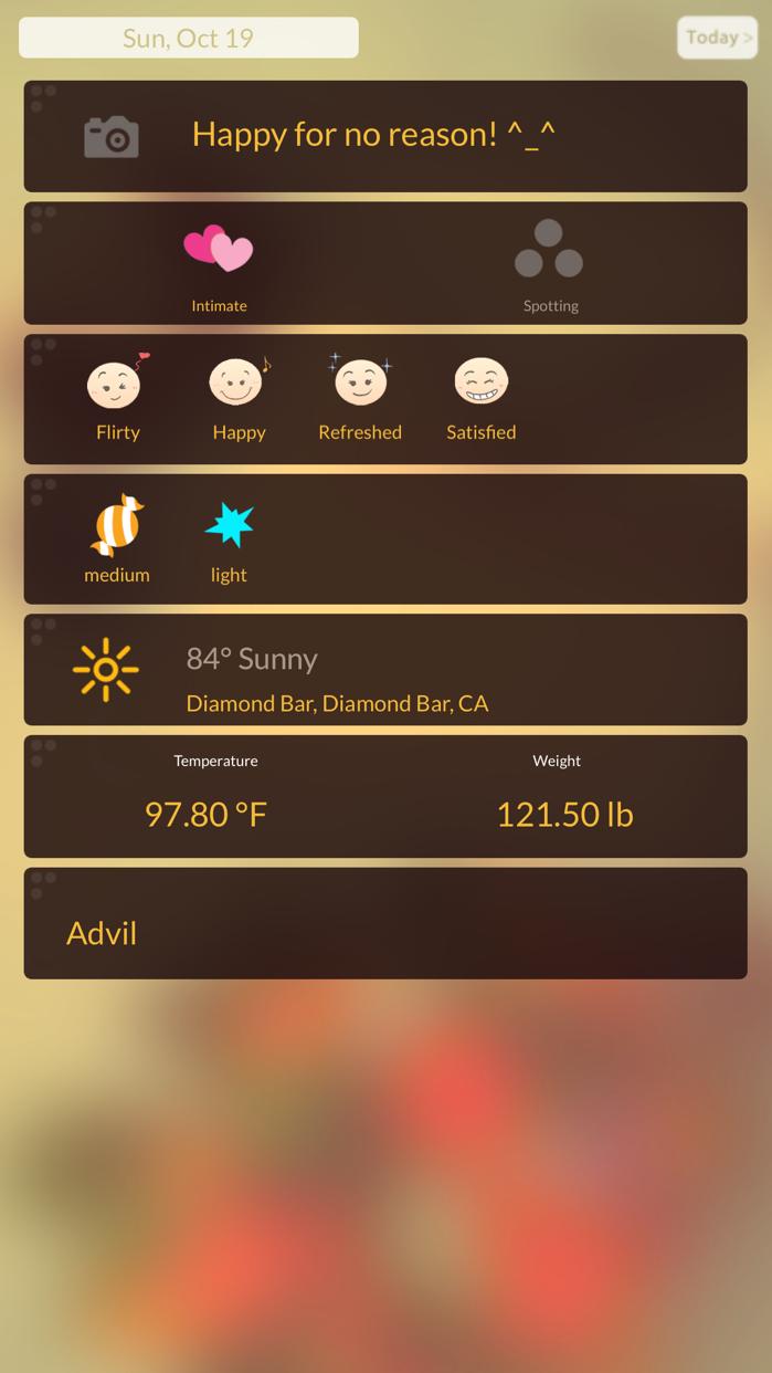 Period Tracker - Journal Screenshot