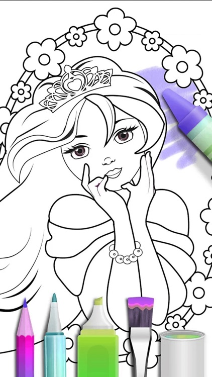 Princess Coloring Book 2018
