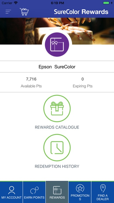 Screenshot for Epson SureColor Rewards in United States App Store