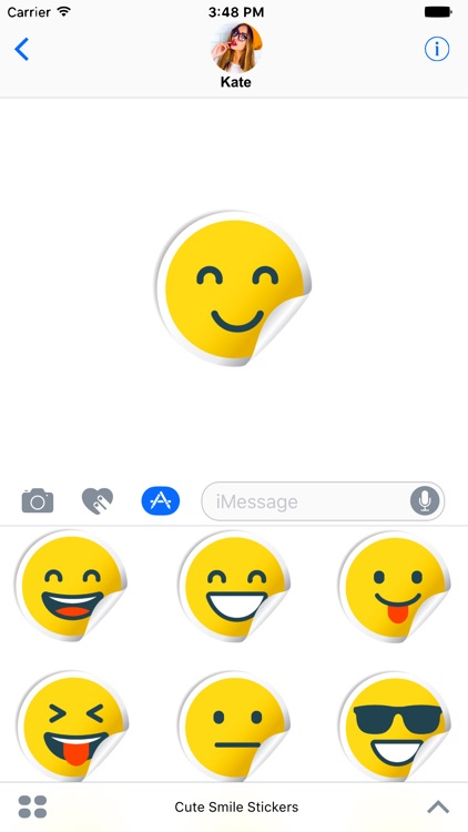 Cute Smile Stickers