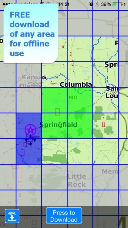 Aqua Map Missouri Lakes GPS HD screenshot-4