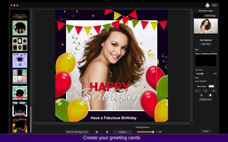 Birthday Cards Maker - Collage screenshot 1