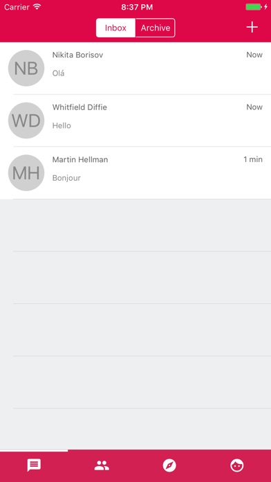 Zom Mobile Messenger Screenshot on iOS