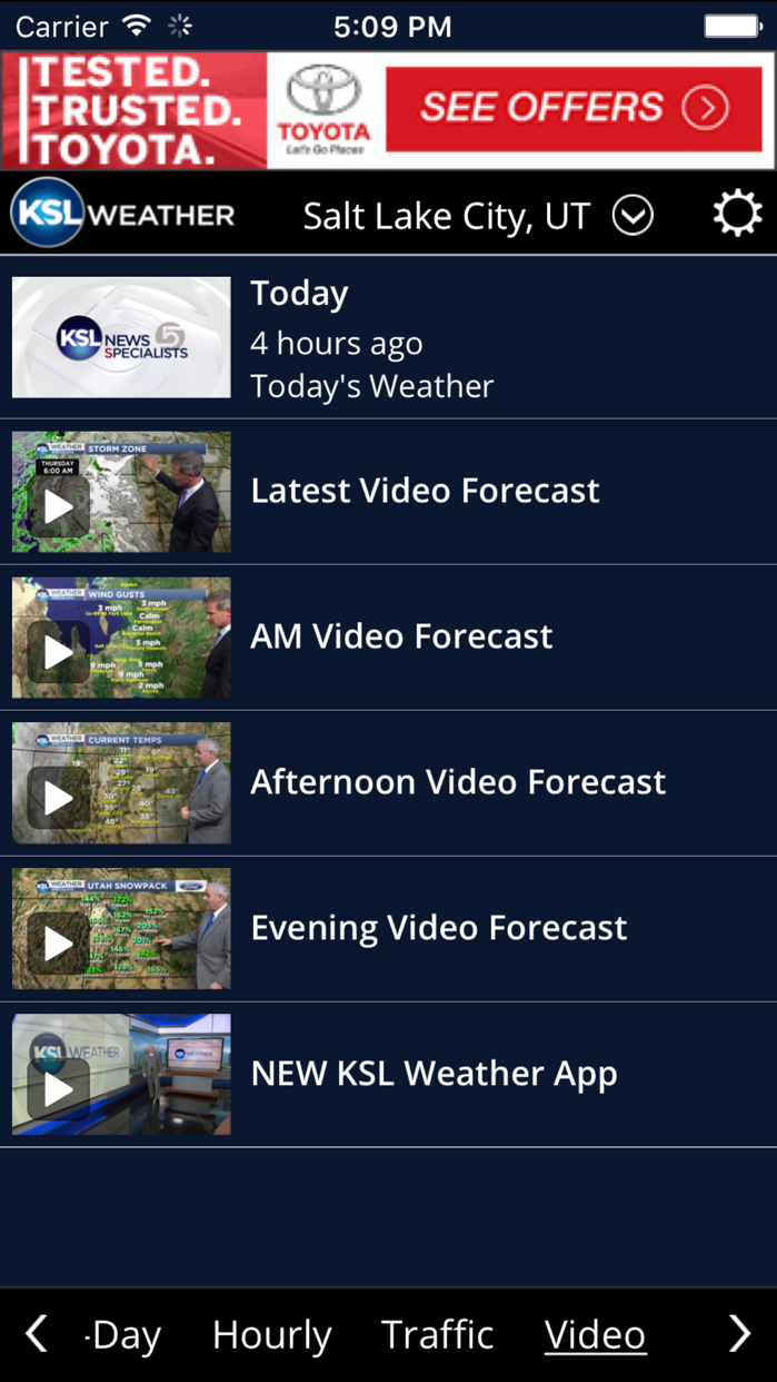KSL Weather Screenshot