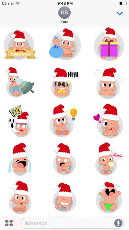 Baby emoji Mery Christmas
