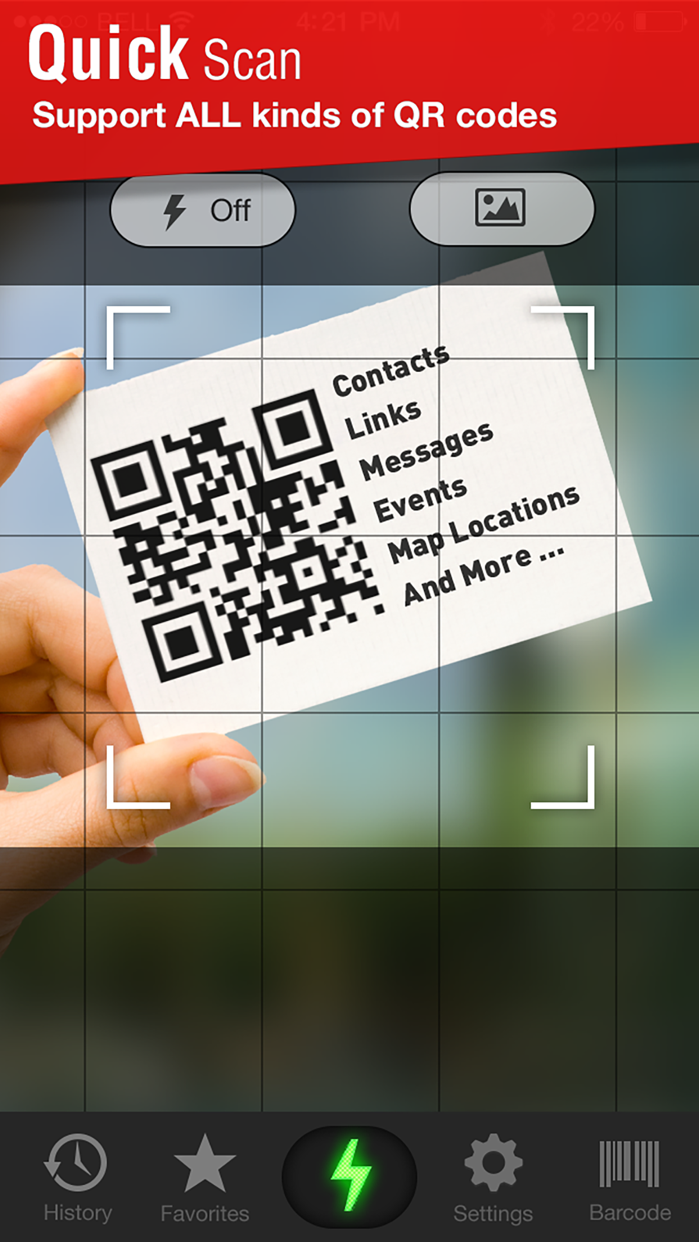 Quick Scan - QR Code Reader Screenshot