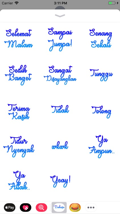Bahasa Stickers screenshot-4