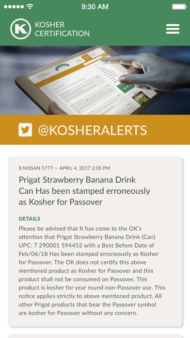 OK Kosher Food Guide screenshot three