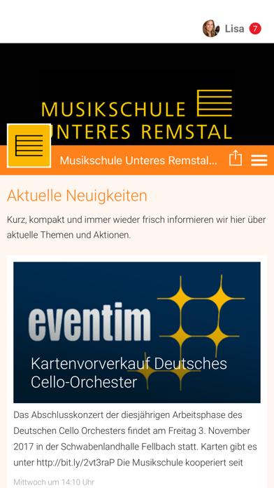 Musikschule Unteres Remstal screenshot 1