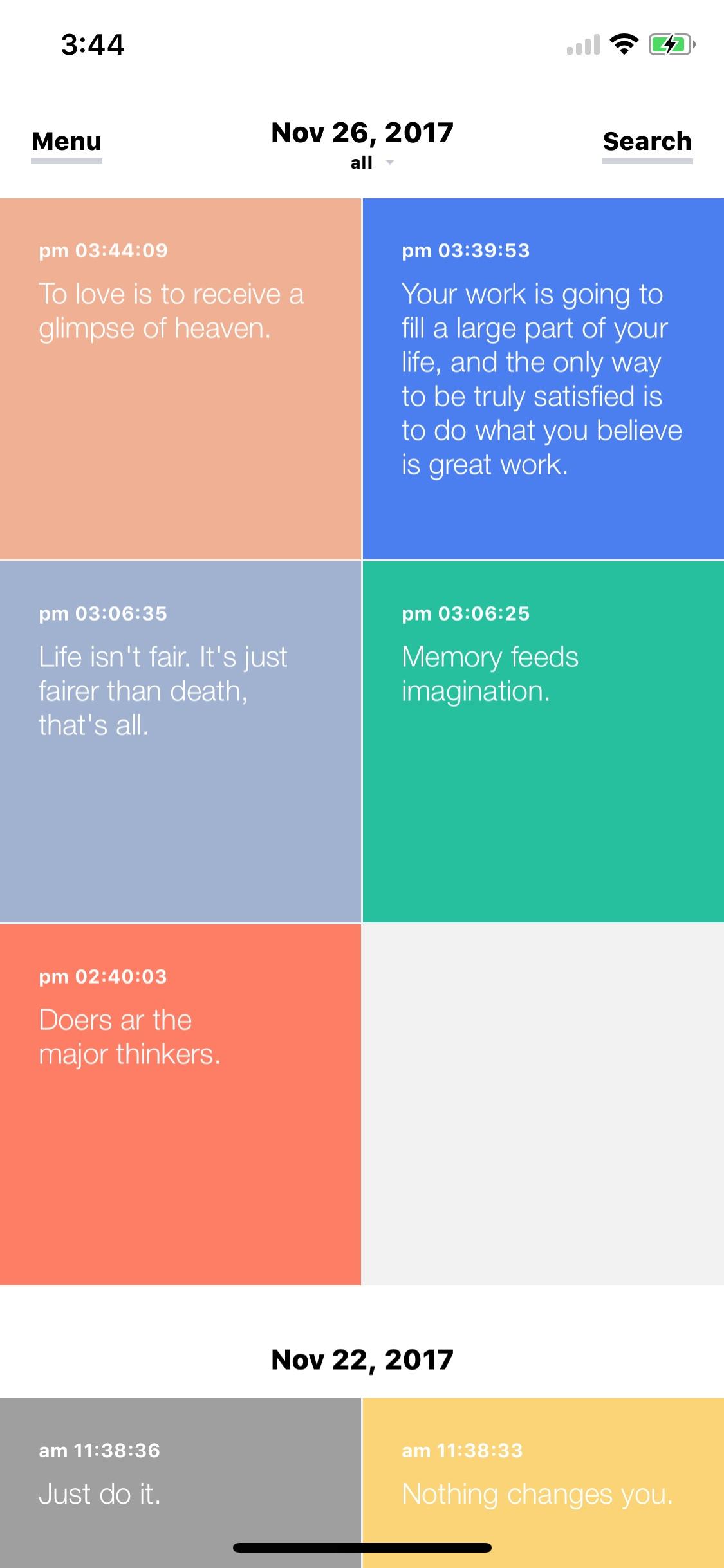 Screenshot do app Memory: Your Memo