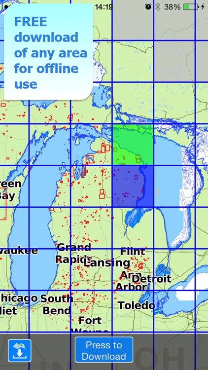 Aqua Map Michigan Lakes GPS screenshot-5
