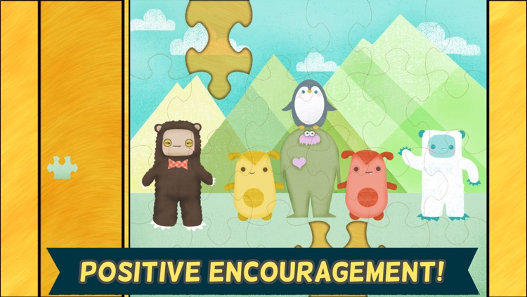 Monster Games for Kids: Jigsaw Puzzles HD - Gold screenshot-4