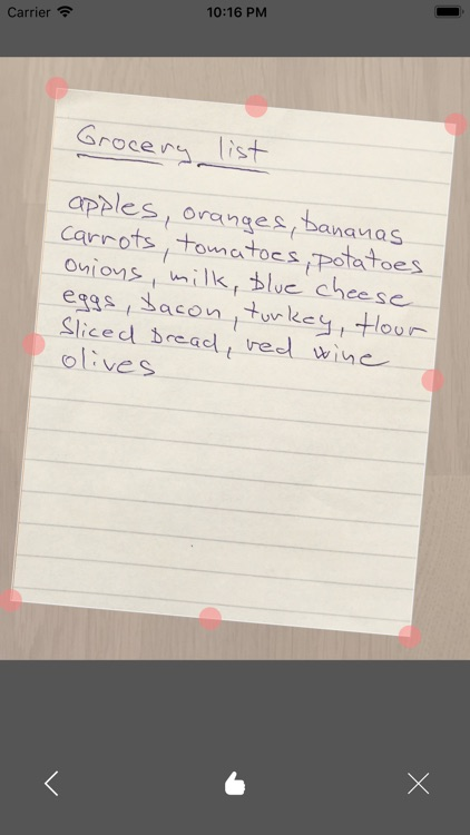 Paper Shopping List +