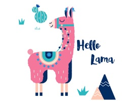 Let's include Llama Love Stickers in your imessage conversation and express your thoughts with these