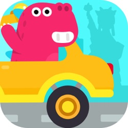 环游世界-儿童游戏-宝宝开车汽车模拟驾驶-旋转轮胎赛车总动员
