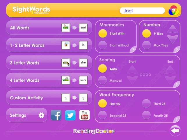 Sight Words 1 Common English Words Dans Lapp Store
