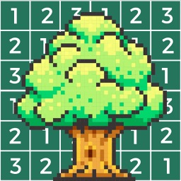 Nature Pixel Art Coloring Book