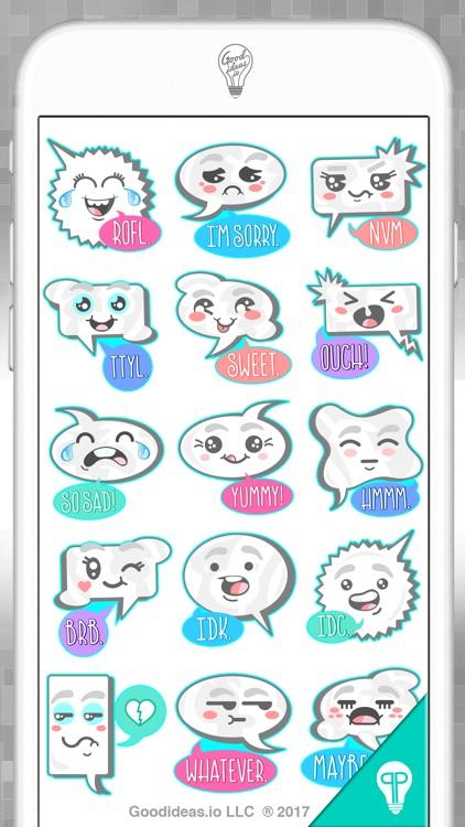 Wordy Balloon Stickers