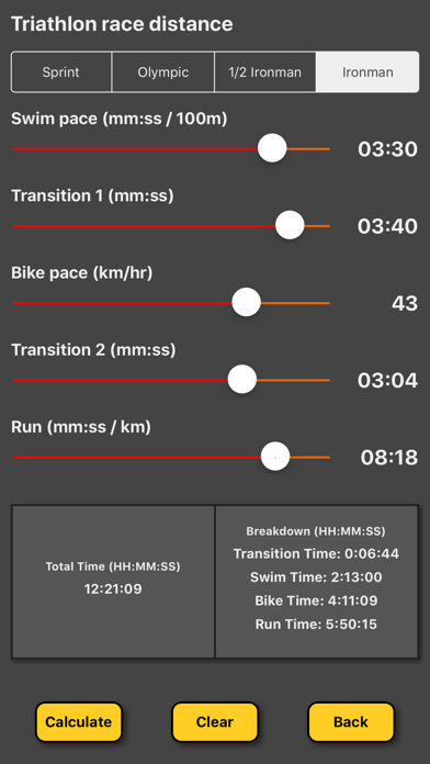 Triathlon Pace Calculatorのおすすめ画像3