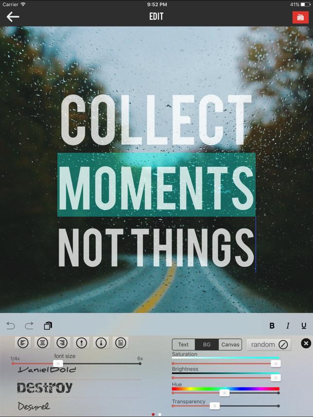 Textograph Pro + Poster Maker Screenshot