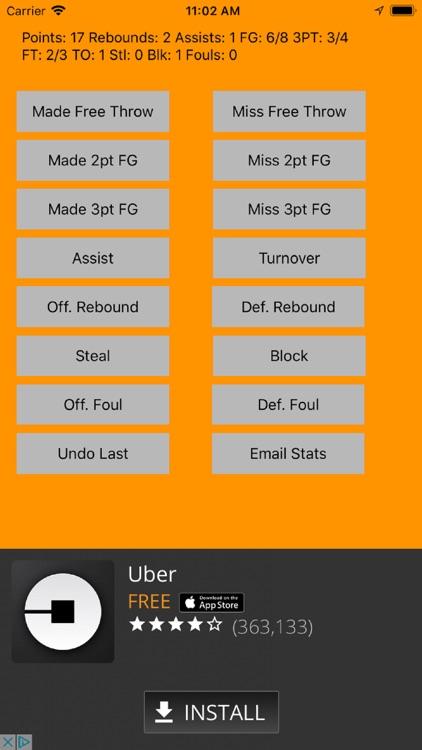 MTS Basketball Stats screenshot-3