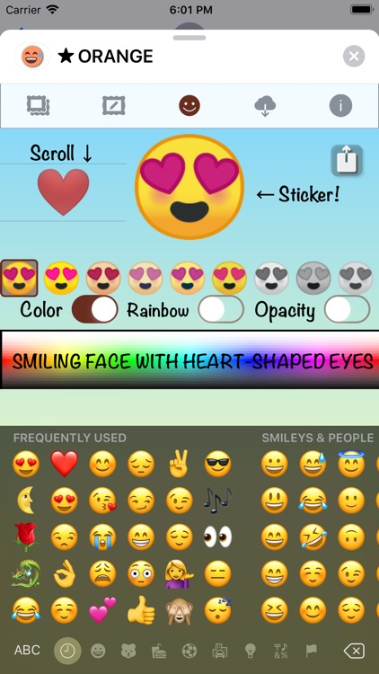 ORANGE Emoji • Stickers screenshot-5