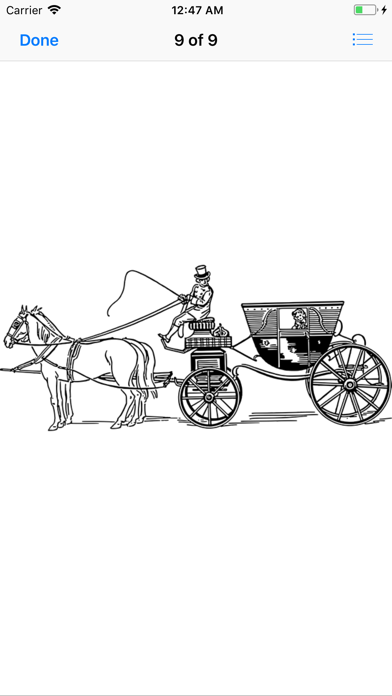 点击获取Horse and Carriage Stickers