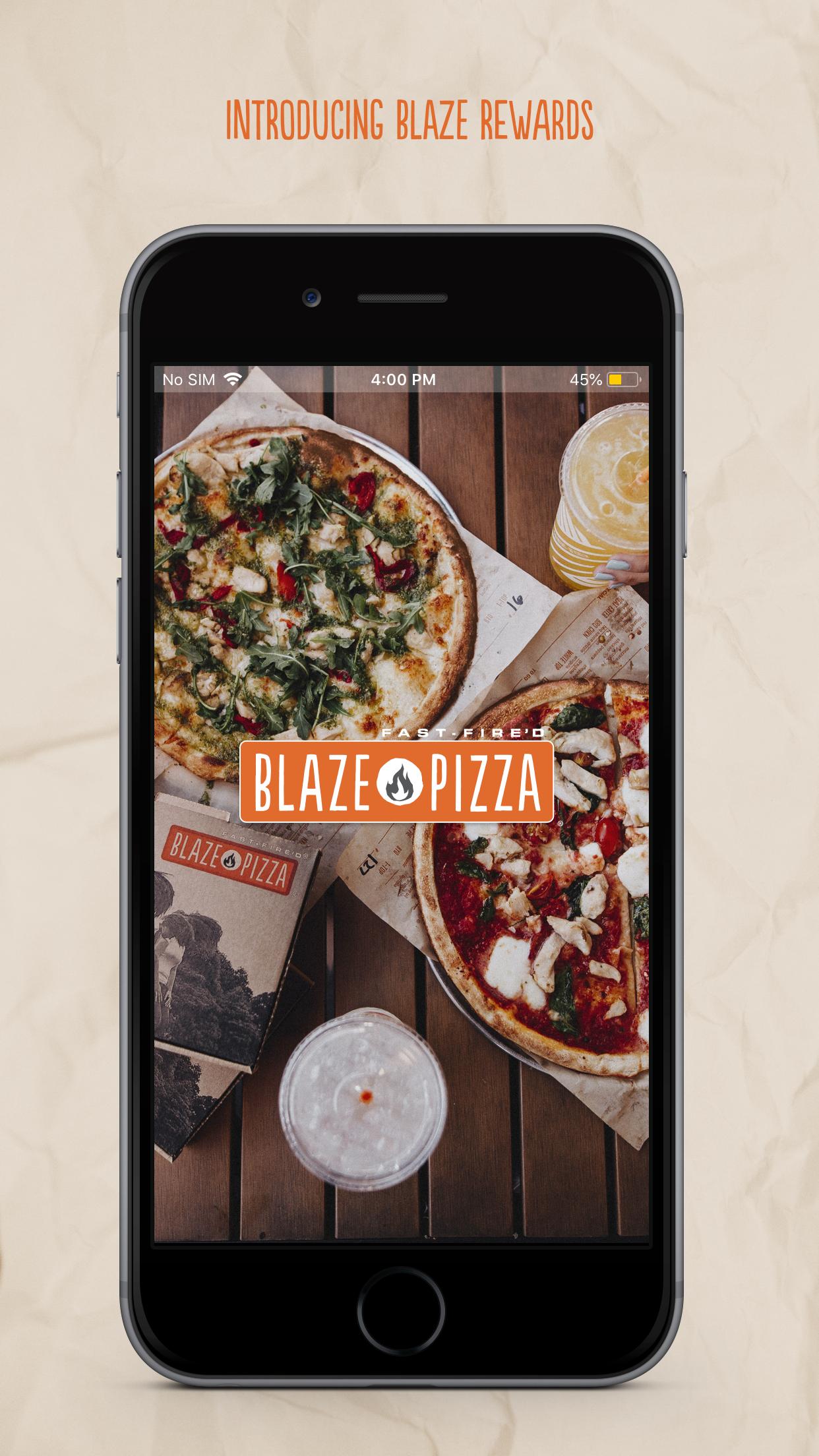 Blaze Pizza Screenshot