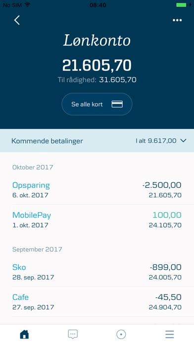 Screenshot for NY mobilbank DK - Danske Bank in Denmark App Store